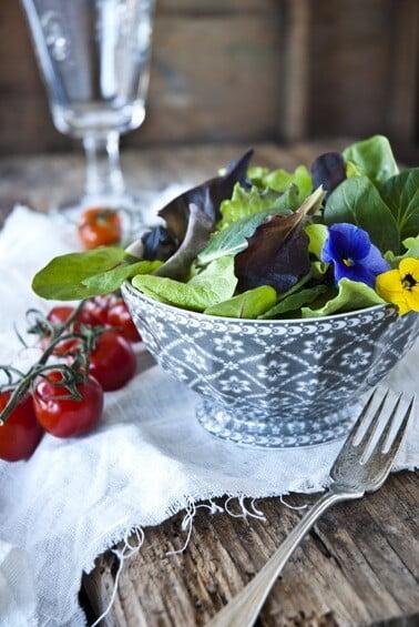 Bunter Salat als Vorbote des Frühlings