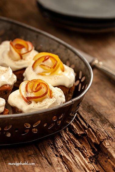 Schnelle Apfel-Dinkel-Muffins mit Joghurt