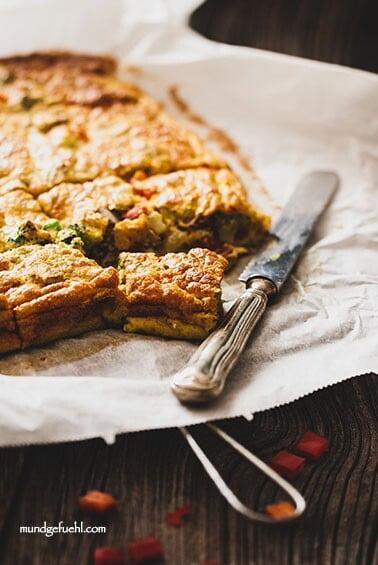 Einfache Frittata mit Gemüse aus dem Ofen
