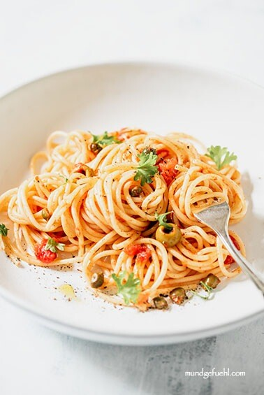 Schnelle Spaghetti alla Puttanesca