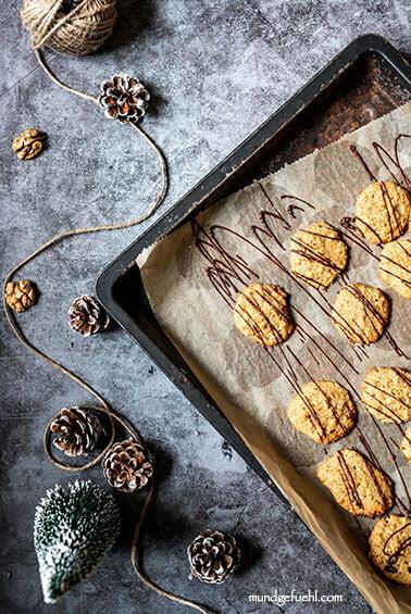 Gesunde Kekse mit Einkorn (leckere Weihnachtsplätzchen)