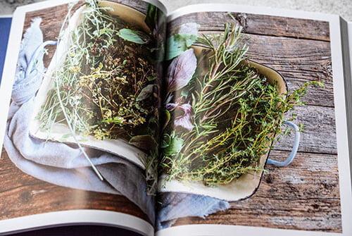 Aufgeschlagenes Kochbuch